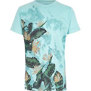 T-shirt imprimé palmier bleu pour garçon