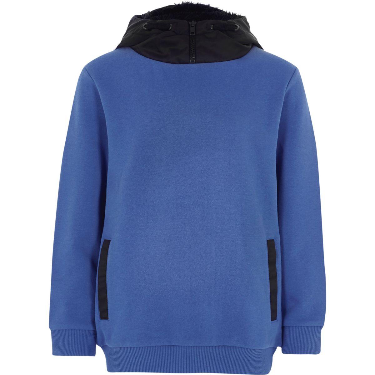 Boys blue hooded sweatshirt