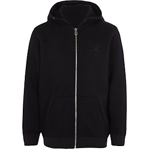 Boys navy zip-up hoodie