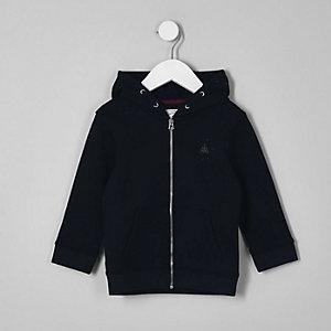 Mini - Marineblauwe hoodie met rits voor jongens