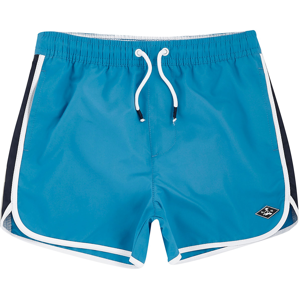 Boys blue runner swim trunks