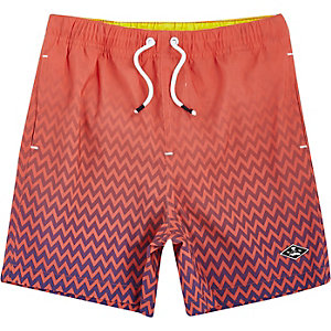 Boys coral fade print swim shorts