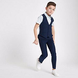 Marineblauw kostuumvest voor jongens