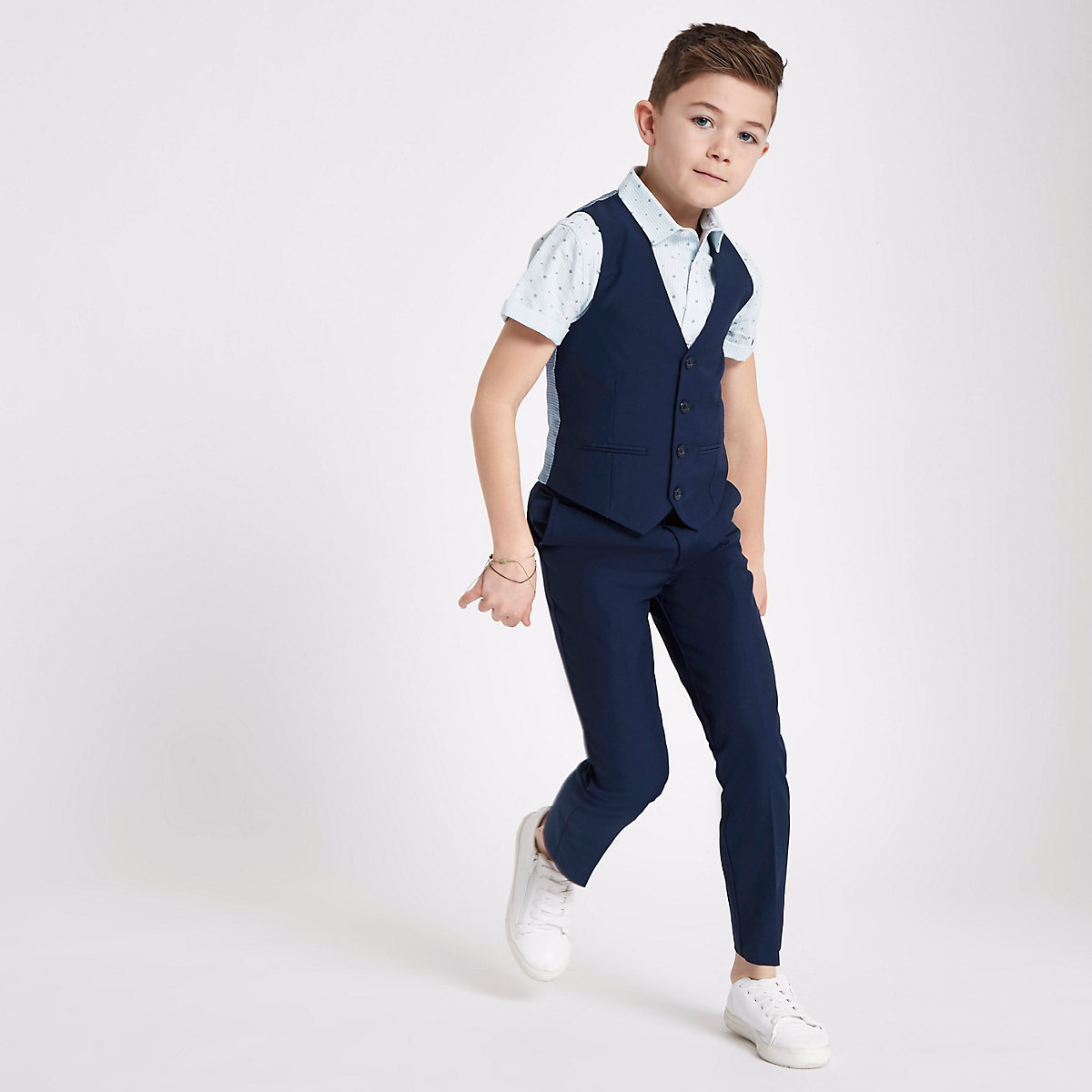 Gilet de costume bleu marine pour garçon