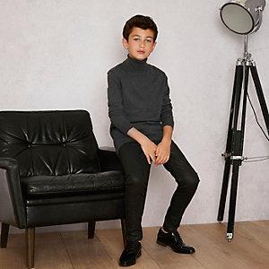 RI Studio - Grijze pullover met col voor jongens