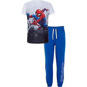Blauwe Spiderman pyjamaset voor jongens