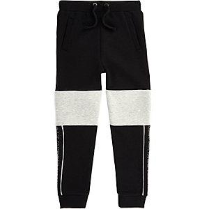Pantalon de jogging colour block noir et gris pour garçon