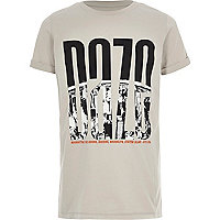 Boys stone 'daze' city print T-shirt