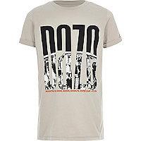Boys stone 'daze' city print T-shirt