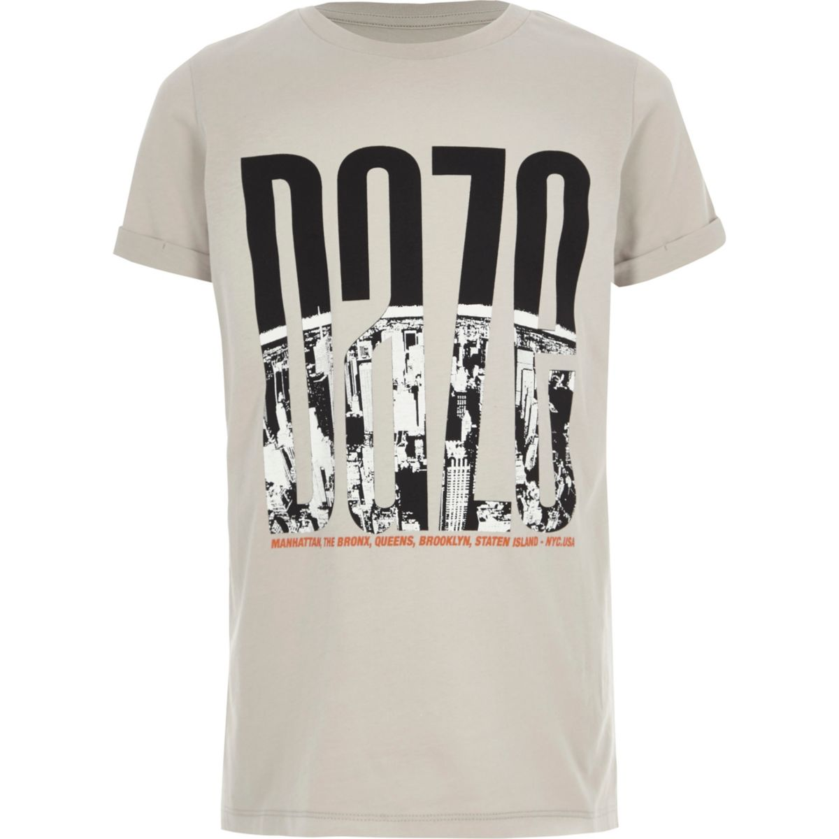 T-shirt à imprimé urbain « Daze » grège garçon