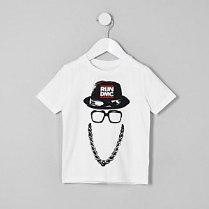 Mini boys white Run DMC T-shirt