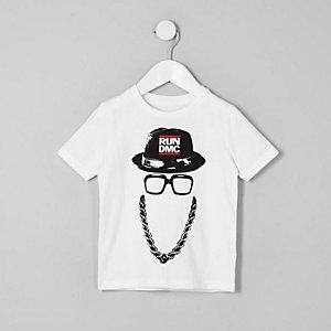 Mini - Wit T-shirt met Run DMC-print voor jongens