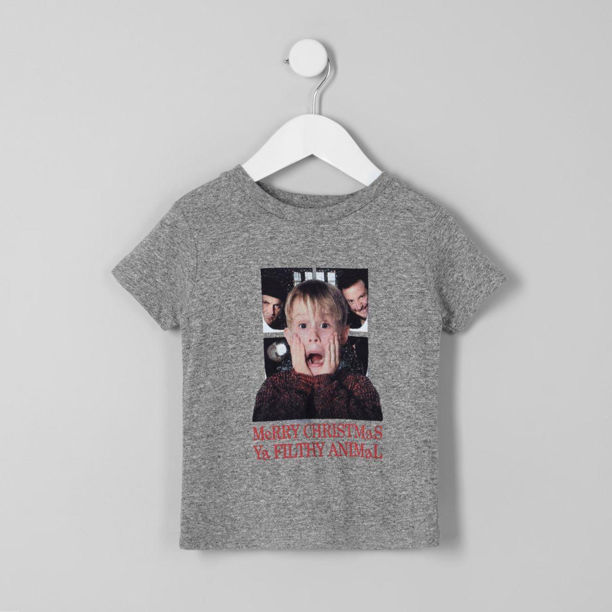 Mini boys grey Home Alone Christmas T-shirt