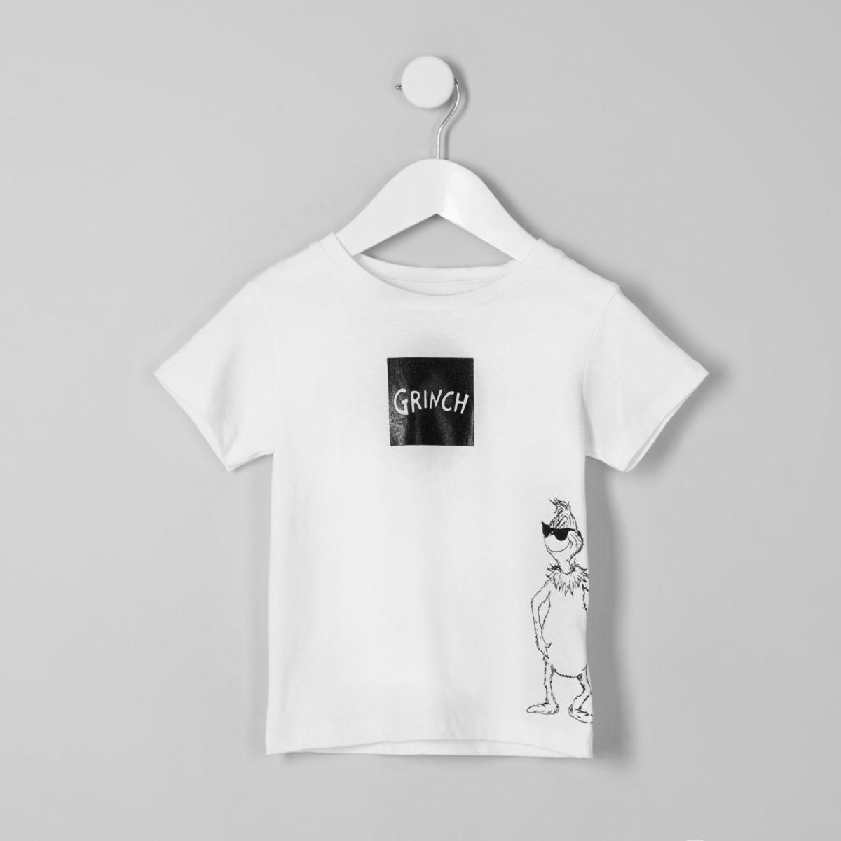 Mini boys 'Grinch' print Christmas T-shirt