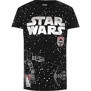 T-shirt noir à imprimé moucheté «Star Wars» pour garçon