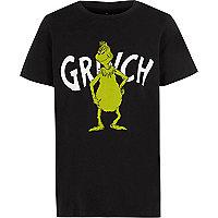 Boys black Grinch print T-shirt