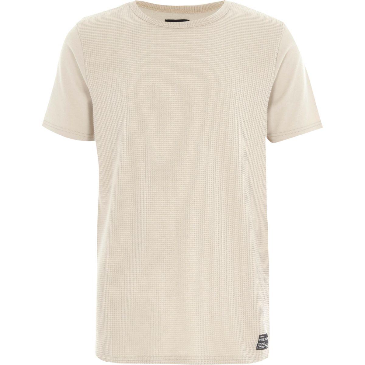 Boys stone waffle T-shirt