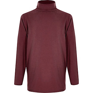 Boys burgundy long sleeve top