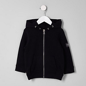Mini boys navy zip up hoodie