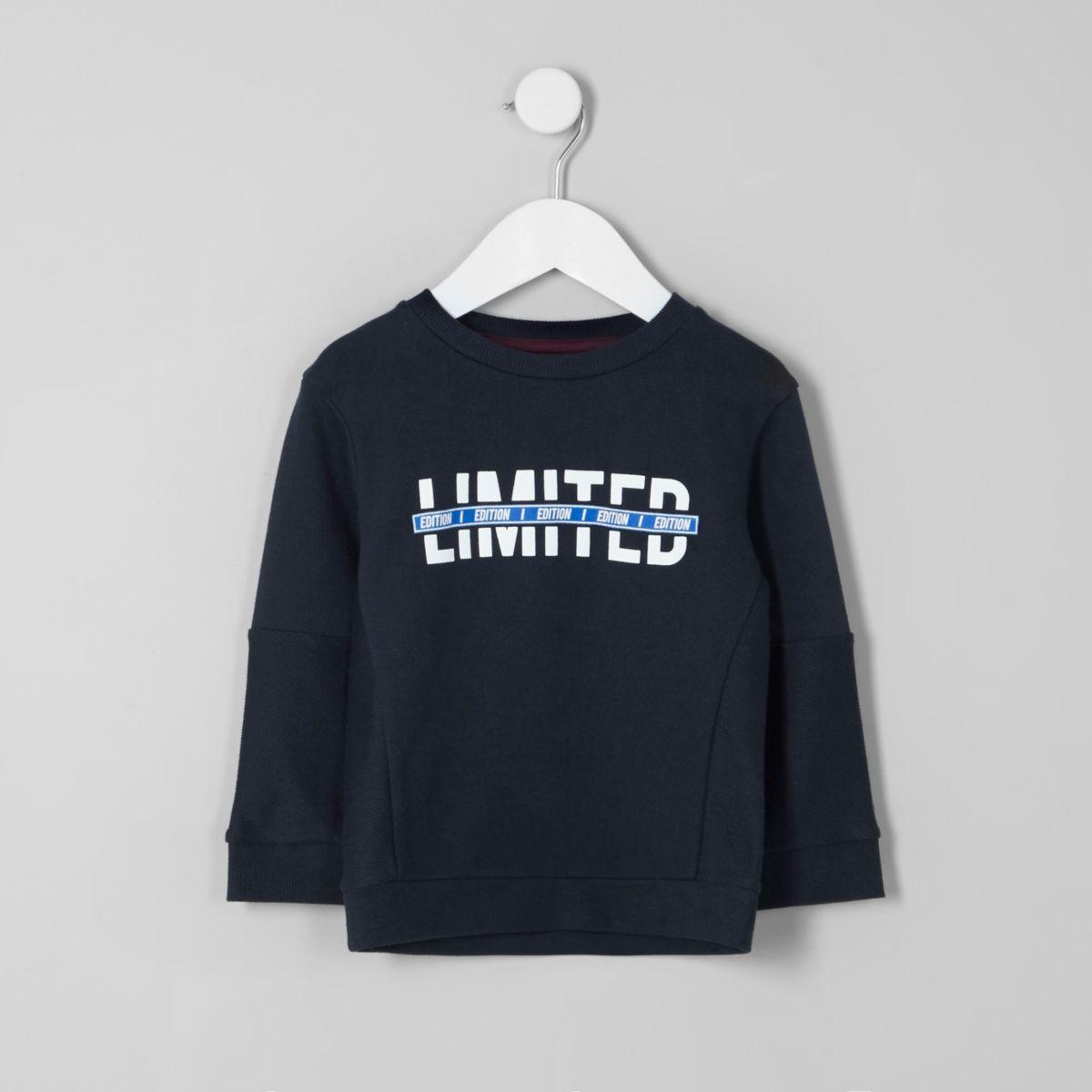 Mini boys 'limited edition' sweatshirt