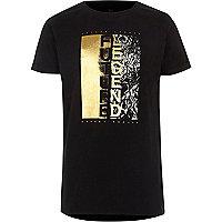 Zwart T-shirt met 'Future legend'-print voor jongens