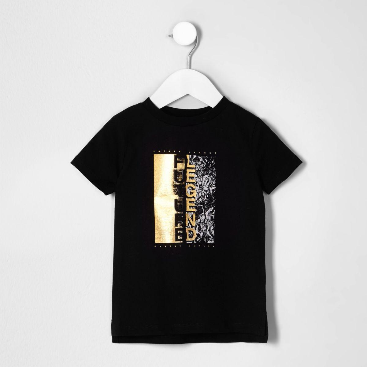 Mini boys black 'future legend' T-shirt