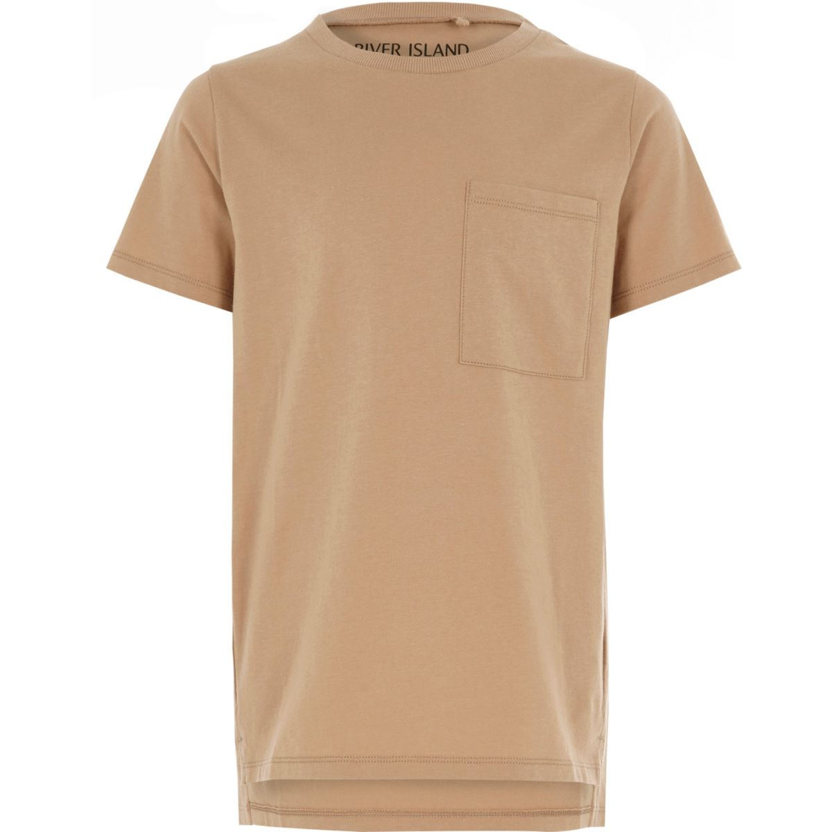 Boys camel stepped hem T-shirt