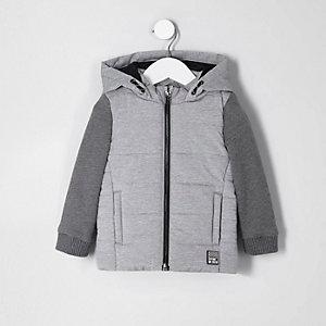 Graue Jacke mit Jersey-Ärmeln