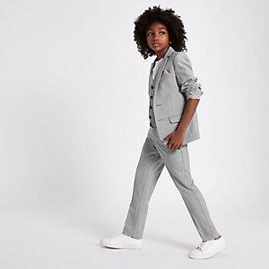 Blazer de costume gris à carreaux pour garçon