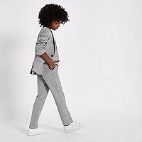 Boys grey check suit pants