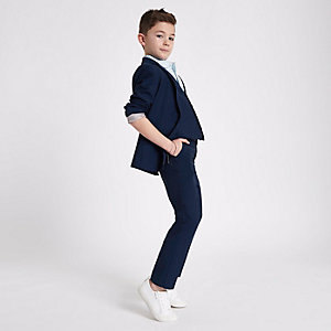 Boys navy suit trousers