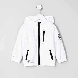Veste légère blanche à capuche mini fille