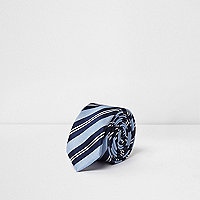 Boys blue stripe tie