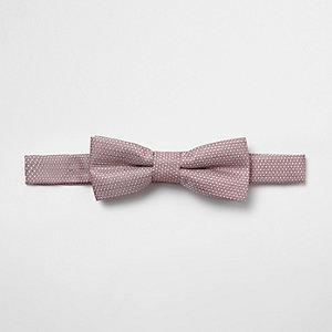 Nœud papillon en jacquard rose pour garçon
