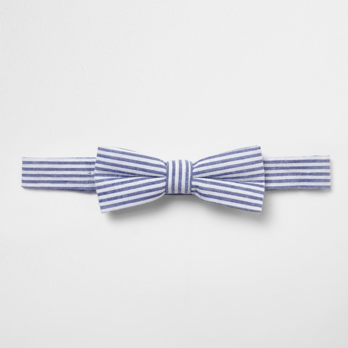 Boys blue stripe bow tie