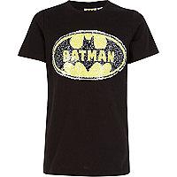 Boys black Batman reversible sequin T-shirt