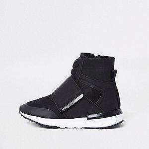 Zwarte hoge sportsneakers voor kids