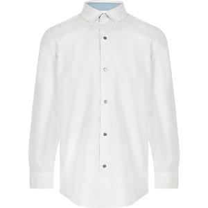 Wit overhemd met lange mouwen voor jongens