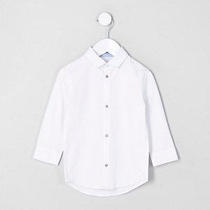 Mini - Wit overhemd met lange mouwen voor jongens
