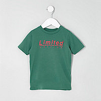 Mini boys green 'limited edition' T-shirt