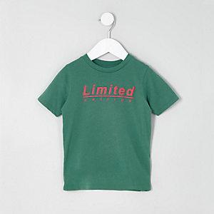 T-shirt «limited edition» vert mini garçon