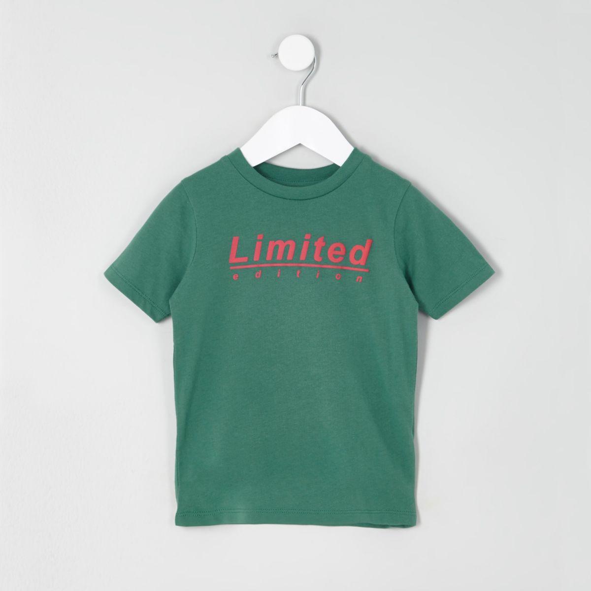 Mini boys green 'limited edition' T-shirt
