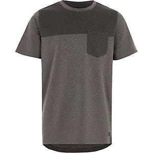 Grijs T-shirt met kleurvlakken voor jongens