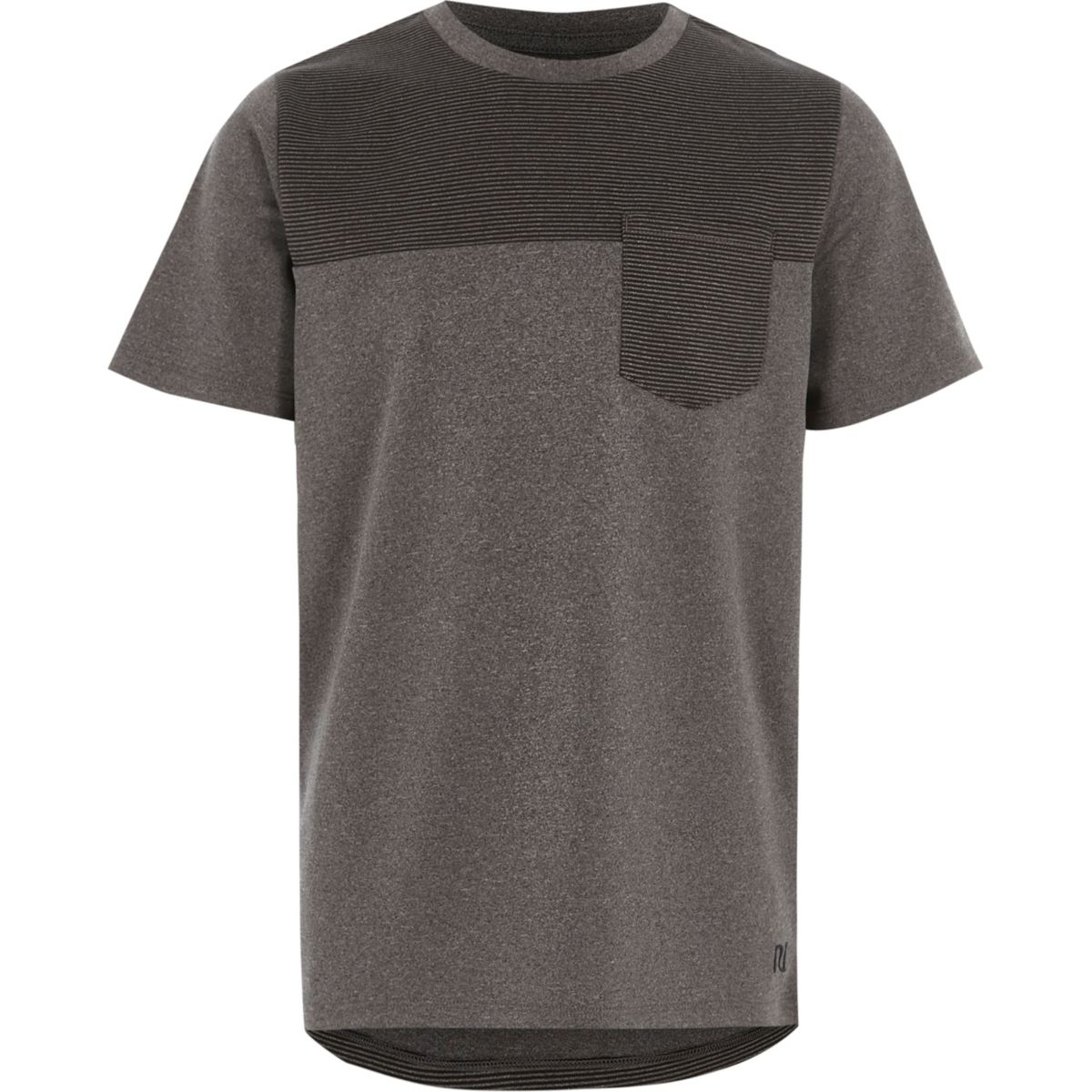 T-shirt gris effet colour bock pour garçon