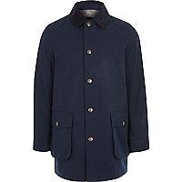 Boys navy cord collar jacket
