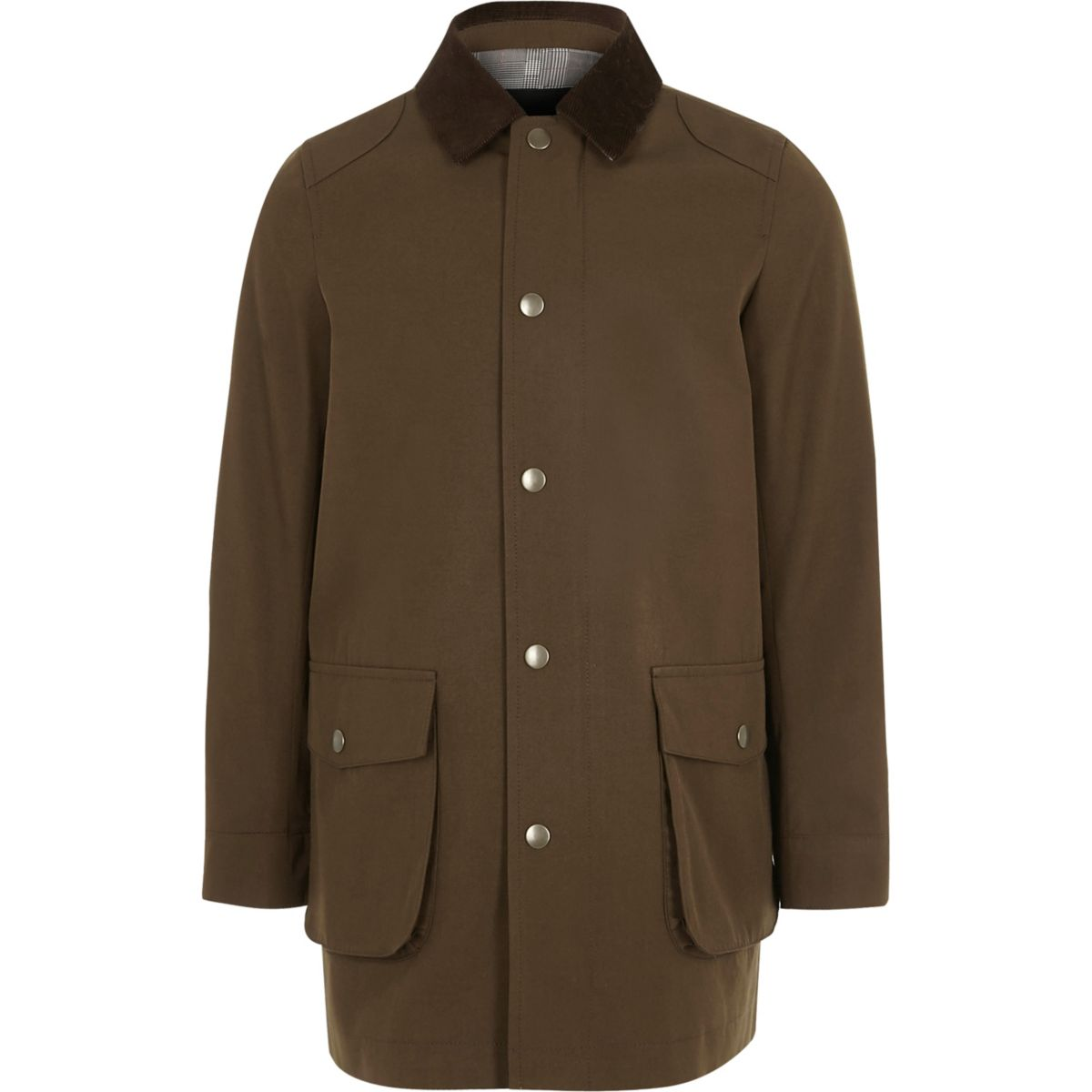 Boys brown cord collar jacket