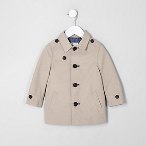 Mini boys beige mac coat