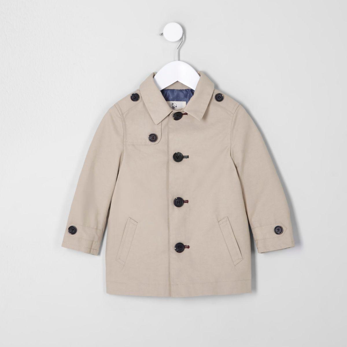 Mini boys beige mac coat