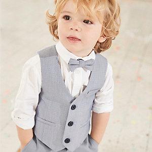 Mini - Set met lichtblauw gilet en overhemd voor jongens