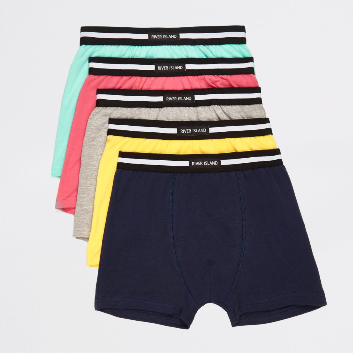 Boys green brights boxers multipack